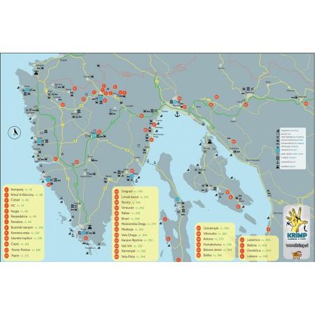 Übersicht Klettern Istrien